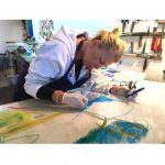 CBCA artist Claudia Mengel working on a plexiglas[…]