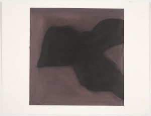 Black Drawings Series: Night Swim, Geoffrey Moss, mixed media, work on paper, dry pigments and waxes on paper
