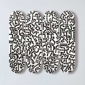 DS01, Paul Michael Graves, Installation, Mixed Media, print on Canadian maple plywood